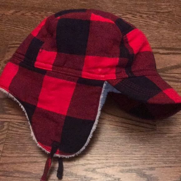 5ceca49d5a9 GAP Other - Baby gap buffalo check trapper hat
